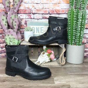 Merrell Legacy Buckle Boots Black Waterproof New 8
